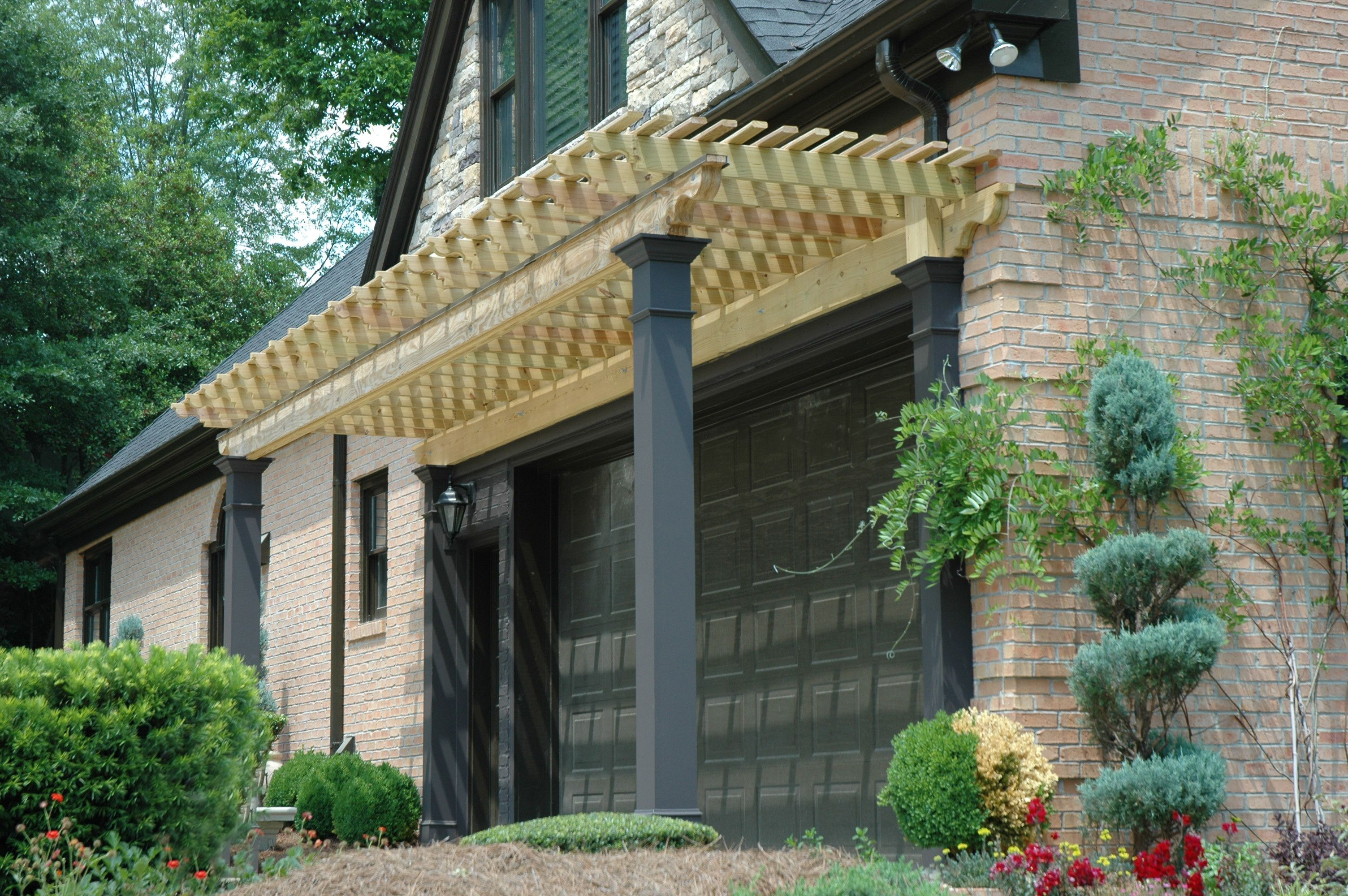Pergola Over Garage Designed And Built By Georgia Front Porch