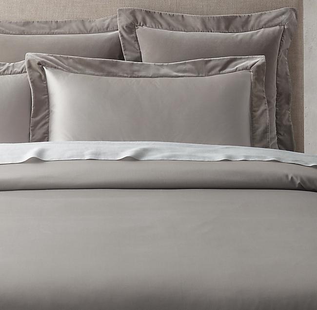 Italian Siena 1000 Thread Count Sateen And Velvet Duvet Cover Velvet Duvet Duvet Covers Bespoke Beds