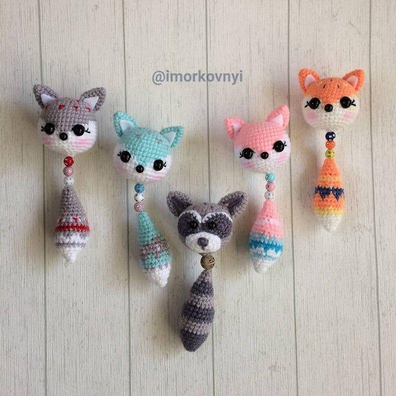 Crochet Llavero Amigurumi Fox Animals Crochet Llave Anillo