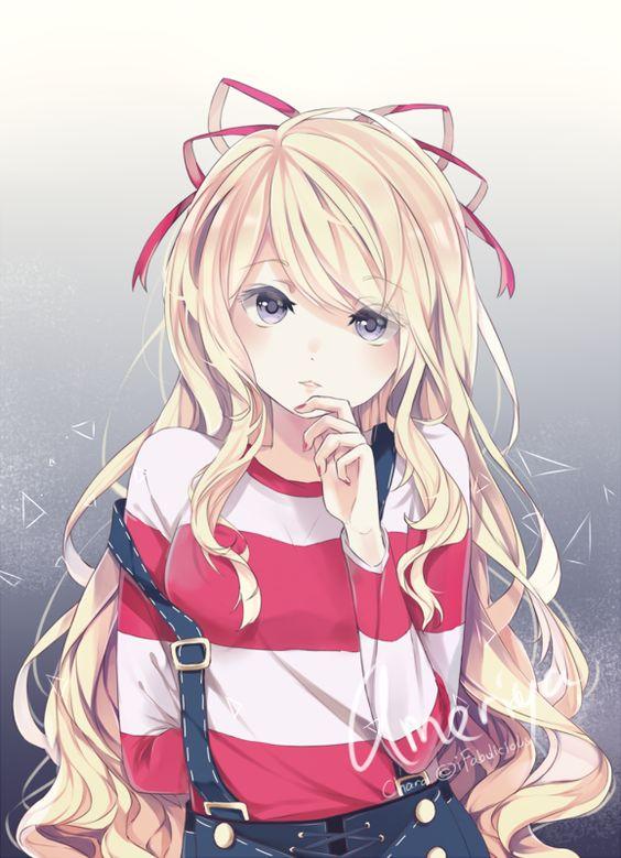 anime girl blonde render sofistyles271