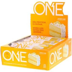 One Brands One ワン バー レモンケーキ 12本 各60g 2 12オンス レモンケーキ プロテインバー レモン