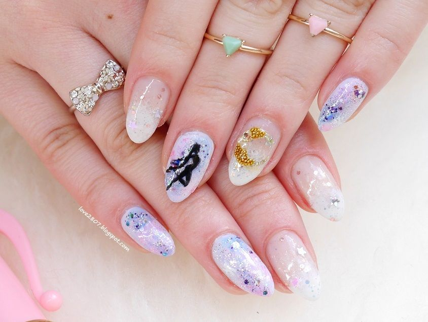 nailove2807: Moon Power...ni nare! | Nail fun | Pinterest | Moon ...
