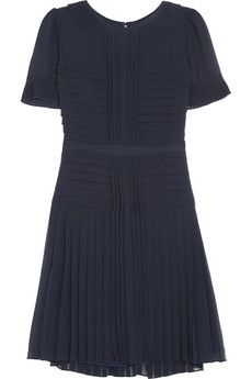 ALICE by Temperley Kyoto pleated crepe dress | THE OUTNET