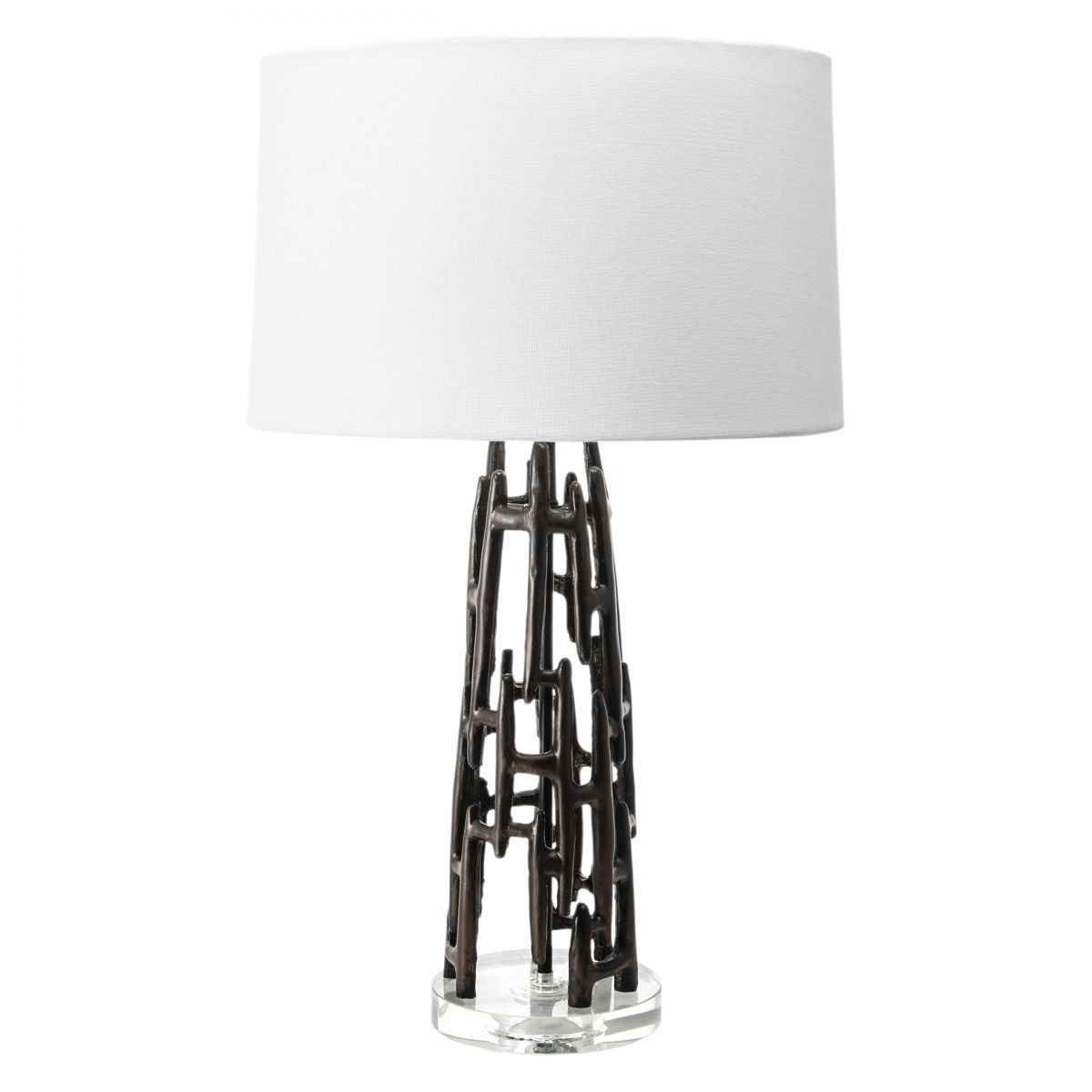 Alva 26 Inch Abstract Polyresin Table Lamp Black Lamp Black Table Lamps Modern Table Lamp Lamp Black and white table lamp