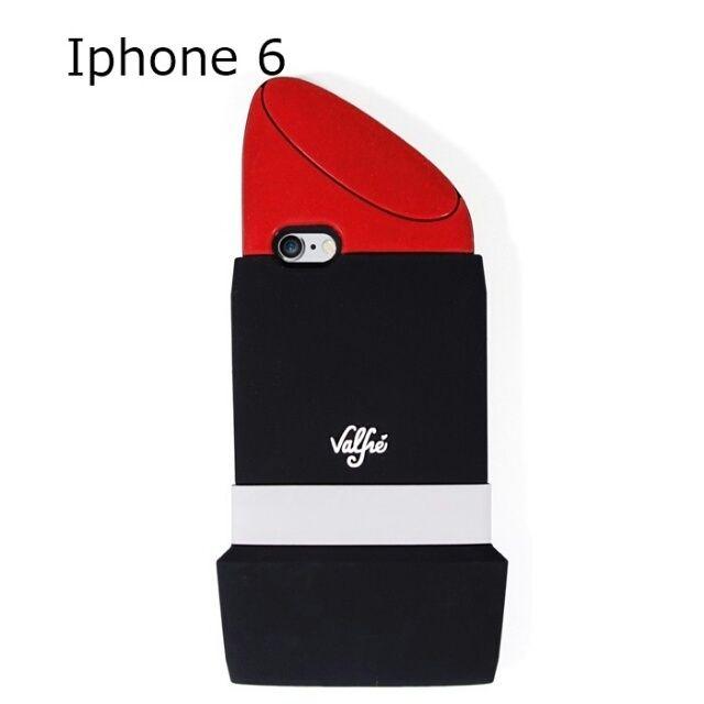 322d4bbf8b Valfre ヴァルフェー アメリカ の 立体 リップスティック LIPSTICK 3D IPHONE 6 6s CASE アイフォン シックス エス ケース  シリコン おもしろい 口紅 リップ 面白い ...