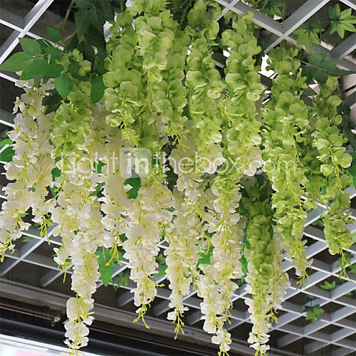 1 branch plastic plants wall flower artificial flowers flower wisteria wisteria flowers hanging basket polyester plants artificial mightylinksfo