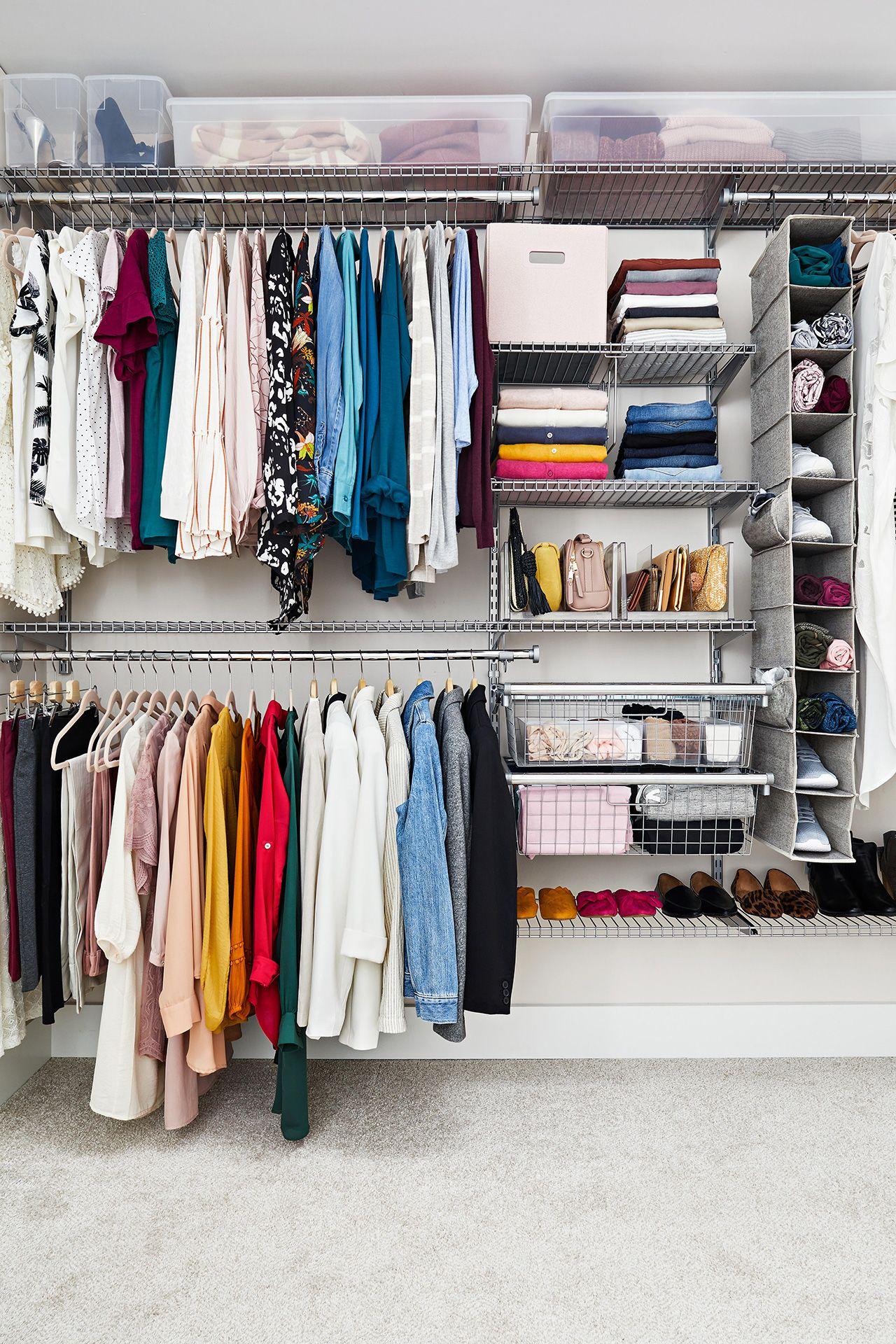 31 Organizing Tips To Steal For Your Closet Closet Clothes Storage Organizing Walk In Closet Storage Closet Organization