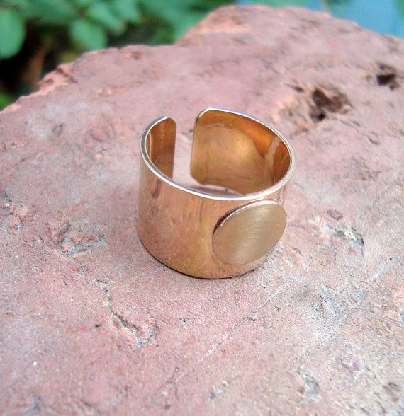 Custom For Katya Wide Ring Blank 1 2 Inch Wide Gold By Pointypaws