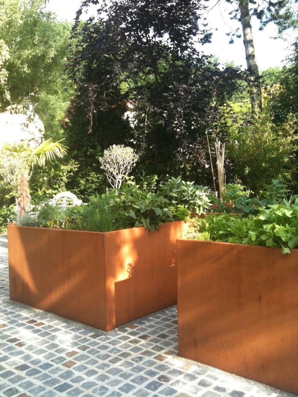 Potager Corten Luxembourg Www Vereal Lu Outdoor Planters Garden Pots Garden Planters