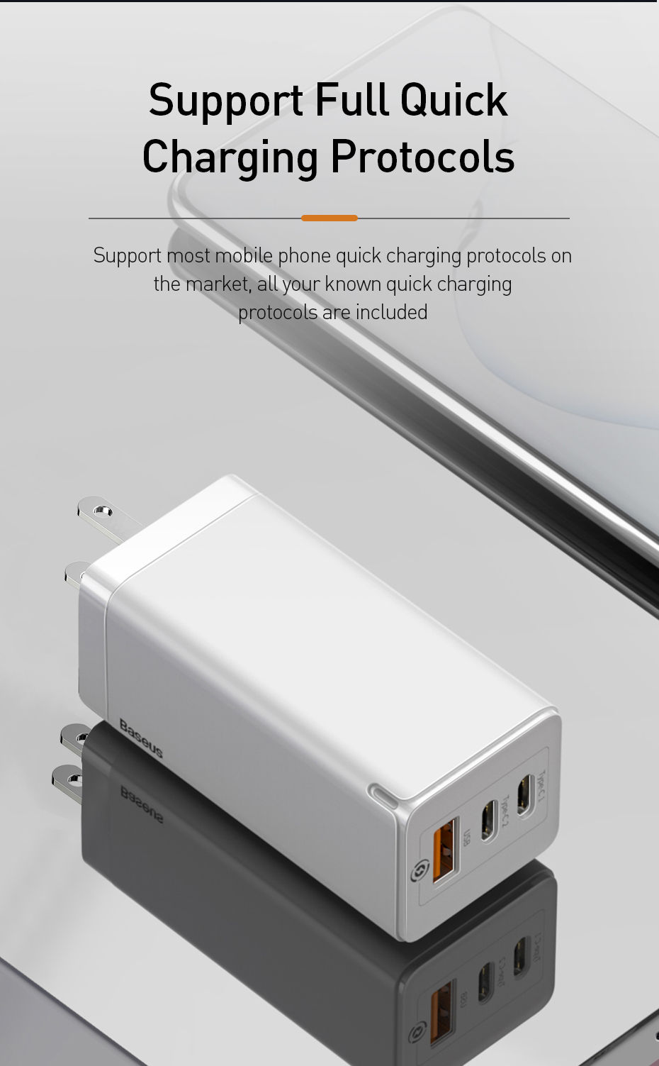Baseus 65w Fast Gan Charger Us Plug Usb Pd Charger Support Quick Charge 4 0 Scp Supercharge For Iphone 11 Pro Xr Xiaomi Huawei On Phone Cables Usb Usb Chargers