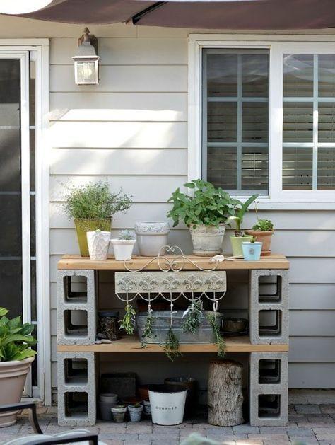 Cinder Block Furniture – 8 Simple DIY Ideas – Bob Vila – Garten – Awesome Garden Ideas