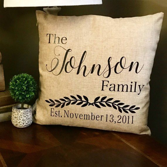 Personalized pillow case, custom pillow cover, last name pillow : Personalized : Personalized pillow case, custom