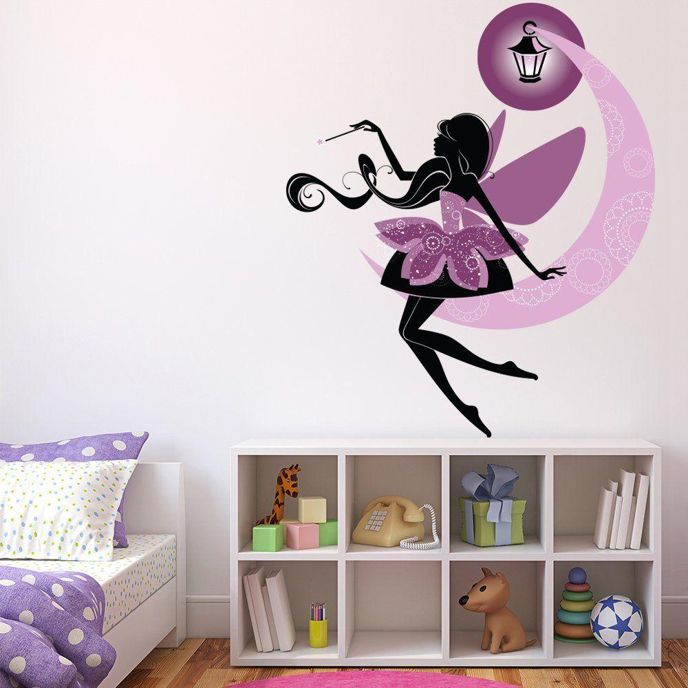 Lila Fee Wandaufkleber Märchen Fantasie Wandtattoo Mädchenzimmer  Kinderzimmer Dekor Erhältlich In 8 Größen | #