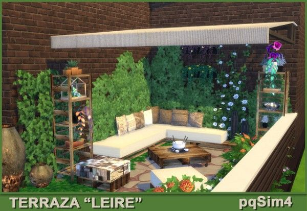 Pqsims4 Terrace Leire Sims 4 Downloads Sims House Design Sims 4 Houses Sims 4