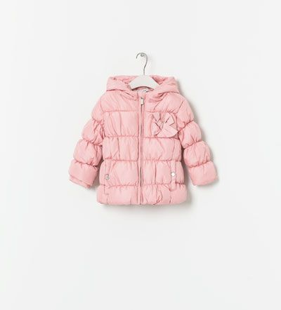 QUILTED HOODED COAT from Zara
