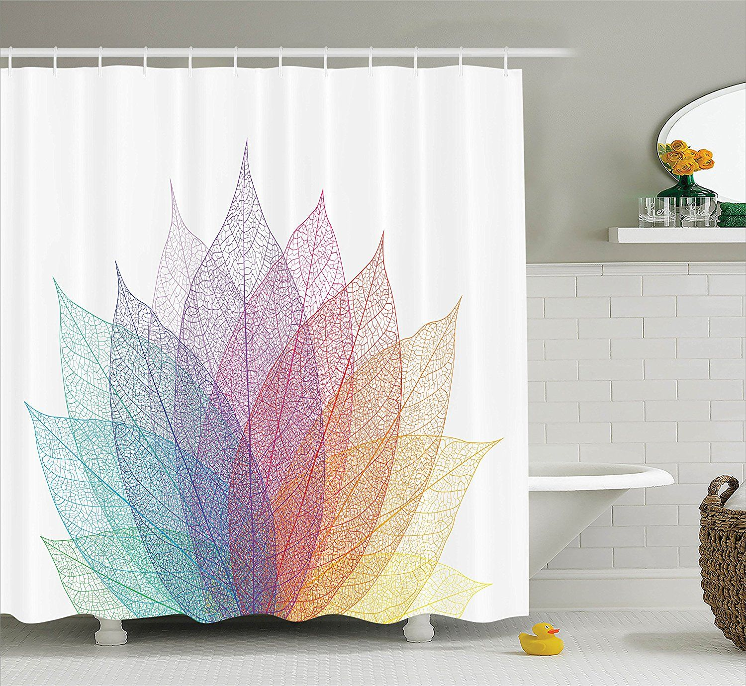 Amazon abstract home decor shower curtain set by ambesonne