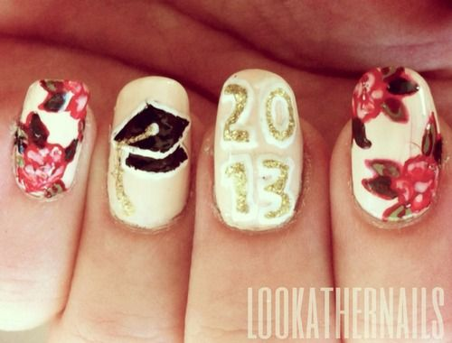 Senior year graduation nail art by lookathernails nailed it senior year graduation nail art by lookathernails prinsesfo Image collections