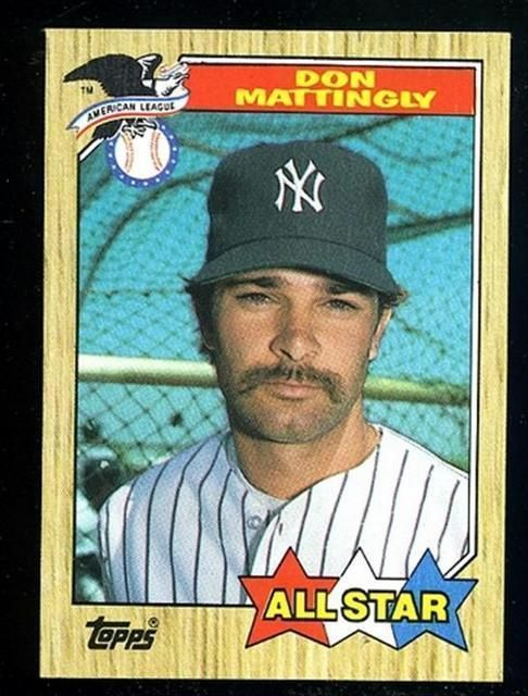 1987 Topps Don Mattingly 606 Baseball Card From 1 1 Baseball Cards Don Mattingly