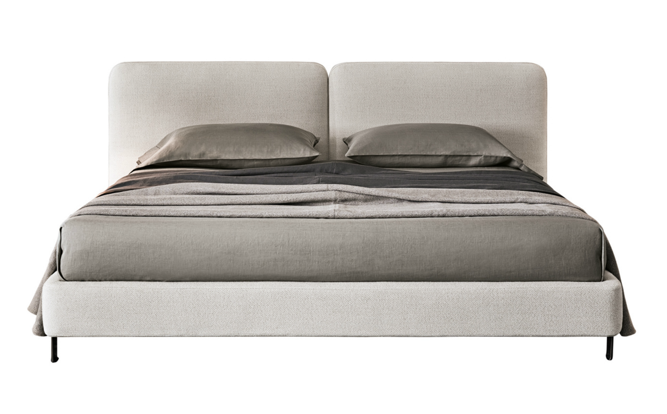 The Tatlin Bed Is All About Headboard With Details That Call To Mind Refined Luggage In Rounded Corners Sching And Lush Thickness