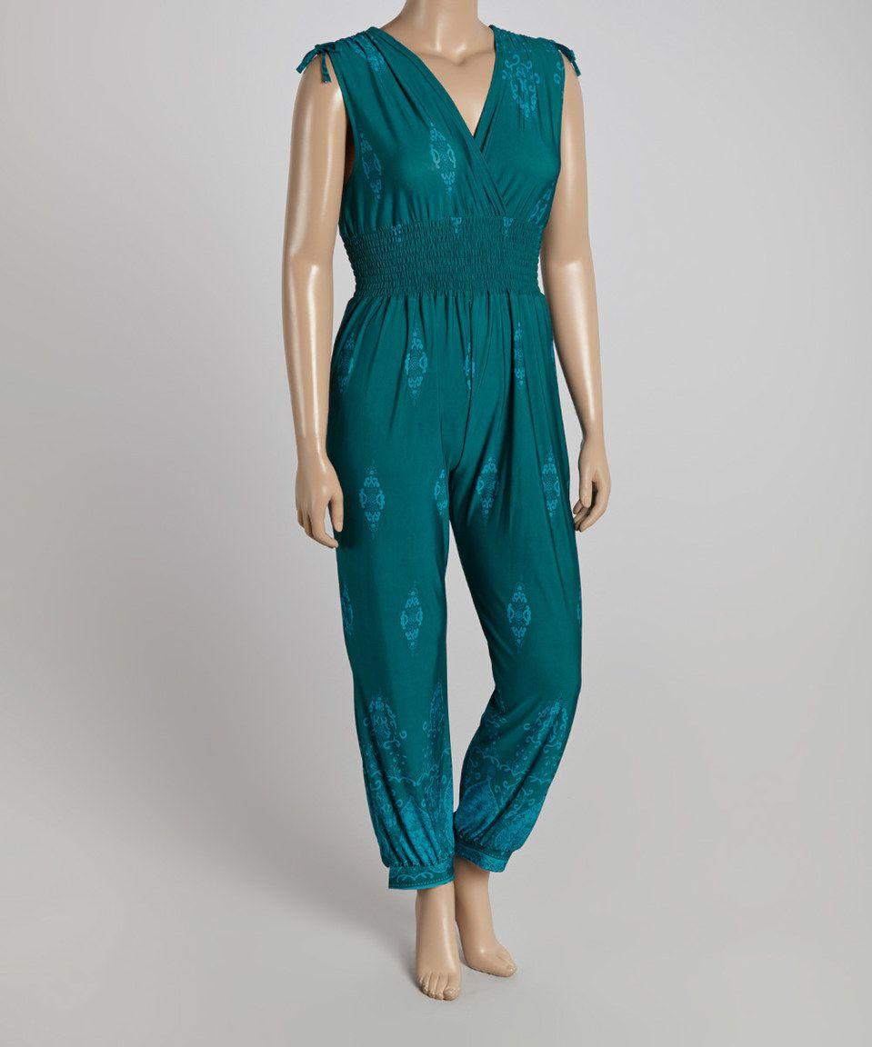Another great find on #zulily! jon & anna Jade Paisley Surplice Jumpsuit - Plus by jon & anna #zulilyfinds