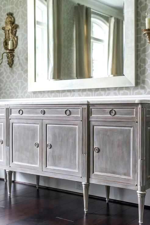 distressed mirror wallpaper gray distressed french buffet ...