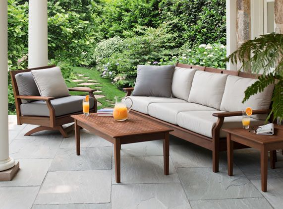Delicieux Wood Patio Furniture By Jensen Leisure   Opal Sofa W/ Swivel Rocker    Sheridan Nurseries