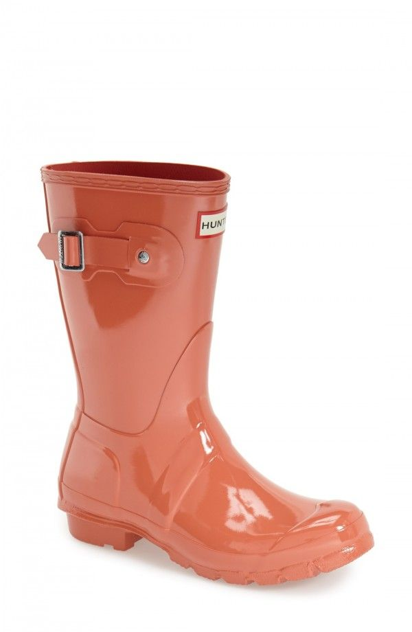 Hunter 'Original Short' Gloss Rain Boot (Women) | Fashiondoxy.com  Description - Free shipping and returns on Hunter 'Original Short' Gloss Rain Boot (Women) at Fashiondoxy.com. Comfort and quality combine in a glossy, water-tight rubber boot finished with a traction-gripping sole. A subtle tonal design circles the top, while an adjus