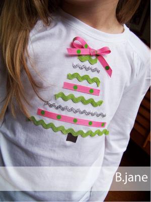 DIY shirt-- ric rac and fabric