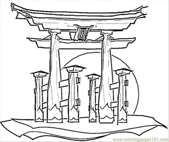 Japanese Coloring Pages Coloring Pictures House Colouring Pages