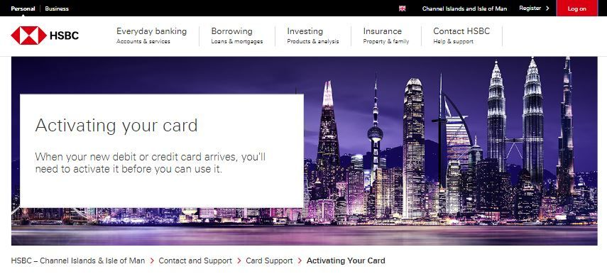 Activate Hsbc Credit Card Credit Card Debit Debit Card Cards