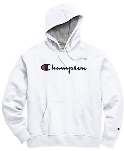 Champion Men's Script Logo Powerblend Hoodie & Reviews - Hoodies & Sweatshirts - Men - Macy's