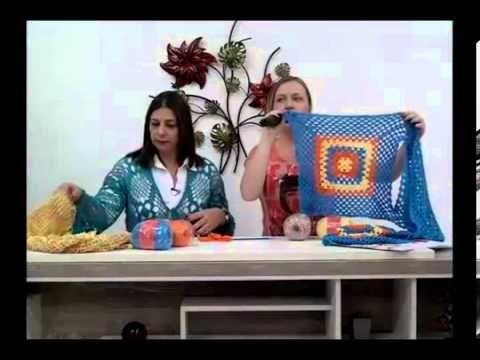 bolero com 3 quadros de croche com Camila fashion 26.09.12