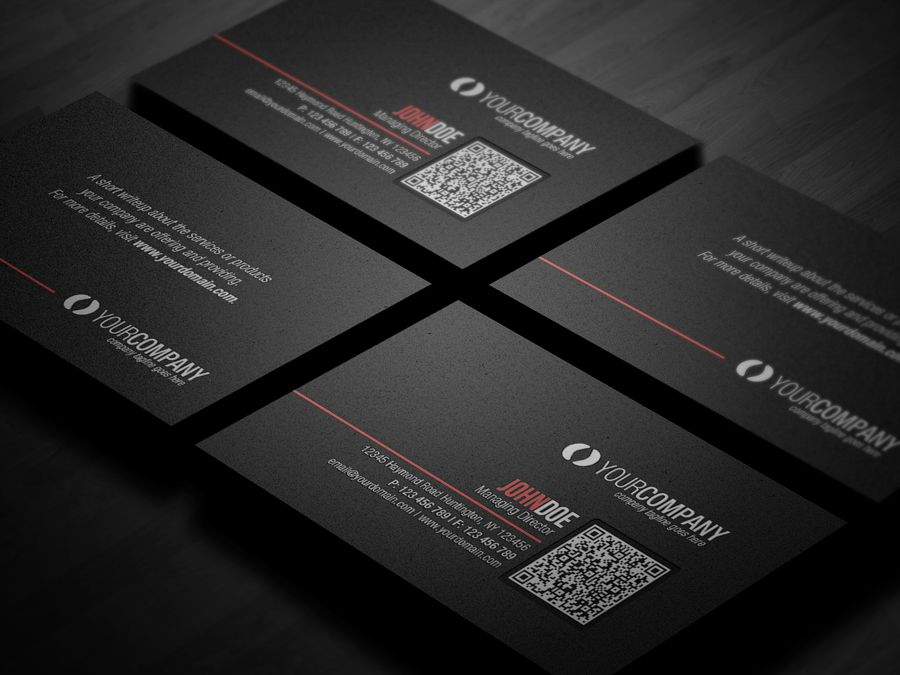 Corporate qr code business card v2 by glenngoh on