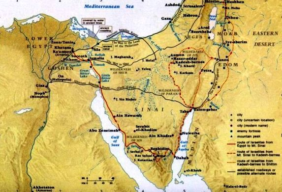 Possible Route Taken By Miriam And Moses In The Exodus