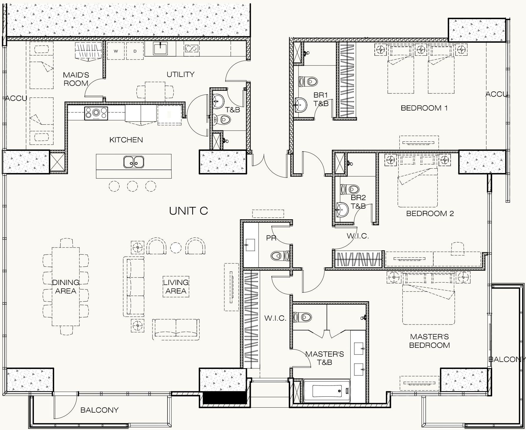 sky rise unit floor plan in west gallery - newest luxury
