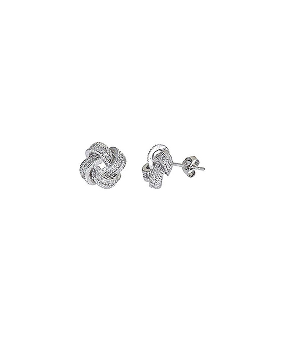 Look at this #zulilyfind! Cubic Zirconia & Sterling Silver Pavé Stud Earrings by Yellow Gold, Inc. #zulilyfinds