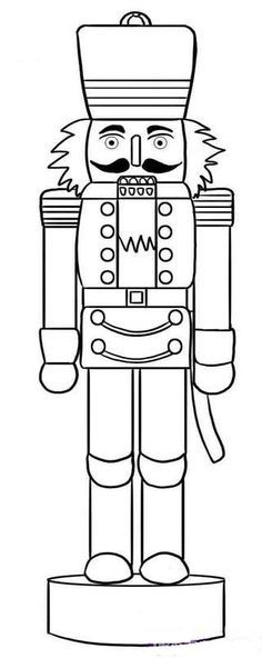 Nutcracker Clipart Black And White Google Search Christmas Coloring Pages Christmas Drawing Christmas Colors