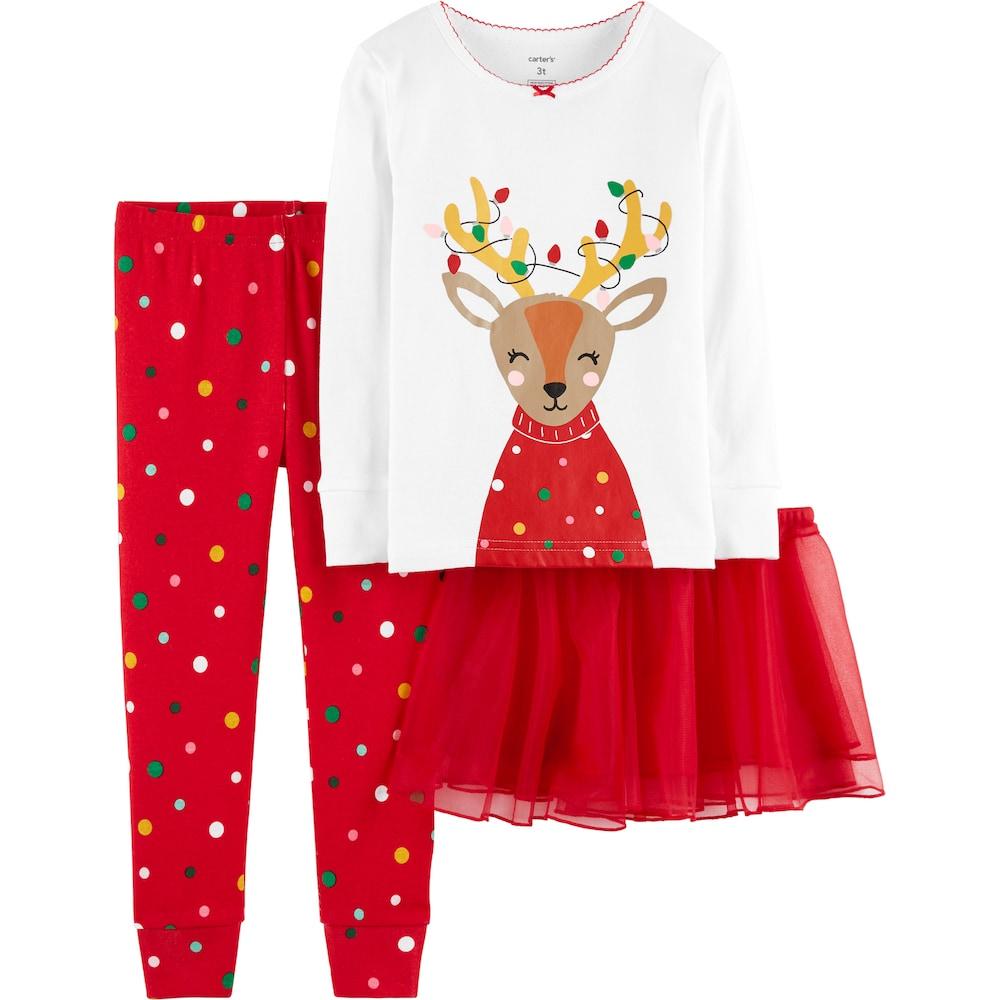7911db4843f067 Toddler Girl Carter s Reindeer Top