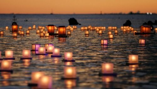 lamps on water