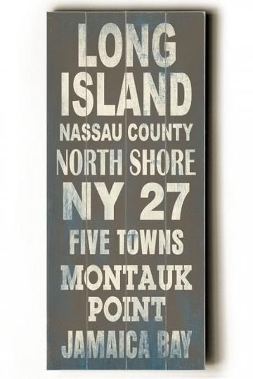 Long Island Transit Sign Wall Plaque Unframed Art Wall Decor Home Decor