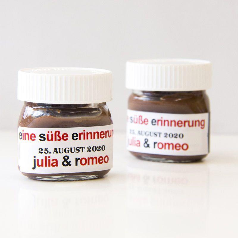 Gastgeschenk Hochzeit Mini Nutella Glas Personalisiert Mini Nutella Glas Nutella Glaser Nutella Produkte