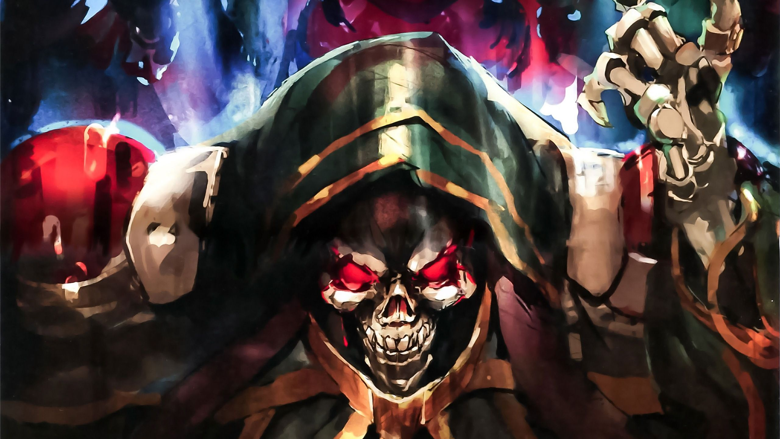 Ainz Ooal Gown Computer Wallpapers Desktop Backgrounds 2560x1440 Id 655515 Anime Smile Anime Anime Characters