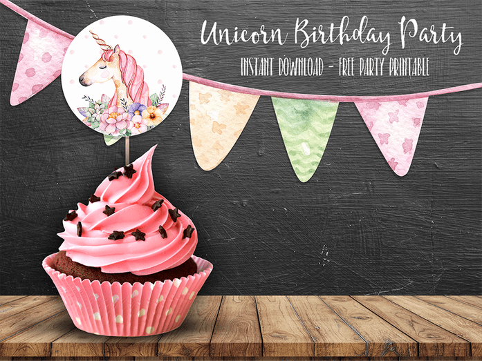 Free Unicorn Birthday Printables ~ Unicorn printable food labels instant download unicorn food