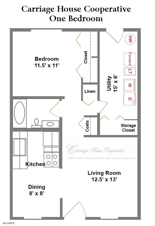 Two Level Floor Plans 1 Bedroom 1 Bath One Bedroom One Bedroom