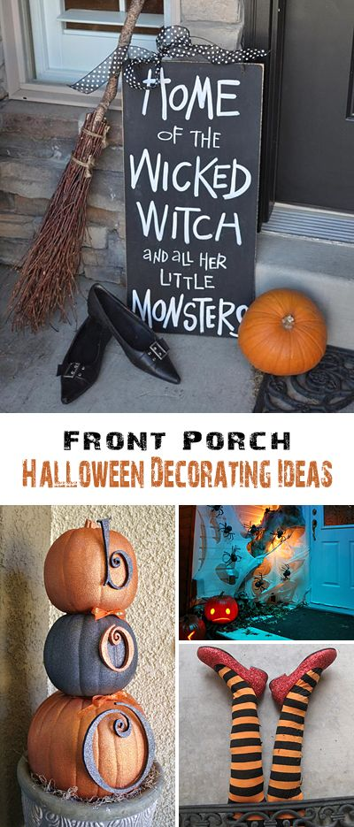 Front Porch Halloween Decorating Ideas \u2022 DIY projects, Tutorials and - simple halloween decorations to make