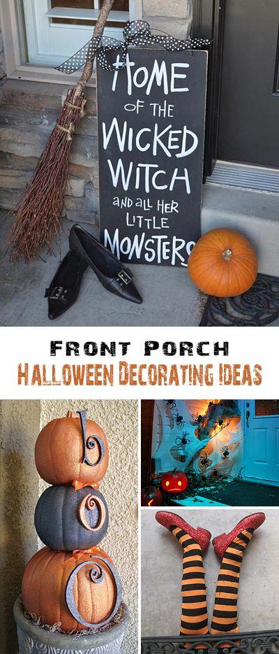 Front Porch Halloween Decorating Ideas \u2022 DIY projects, Tutorials and - pinterest halloween decor ideas