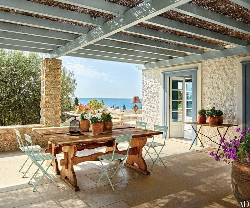 On The Terrace Of A Family S Greek Island Retreat
