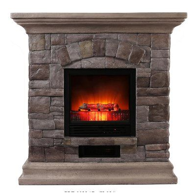 Loon Peak Baden Portable Electric Fireplace In 2019 Faux Stone