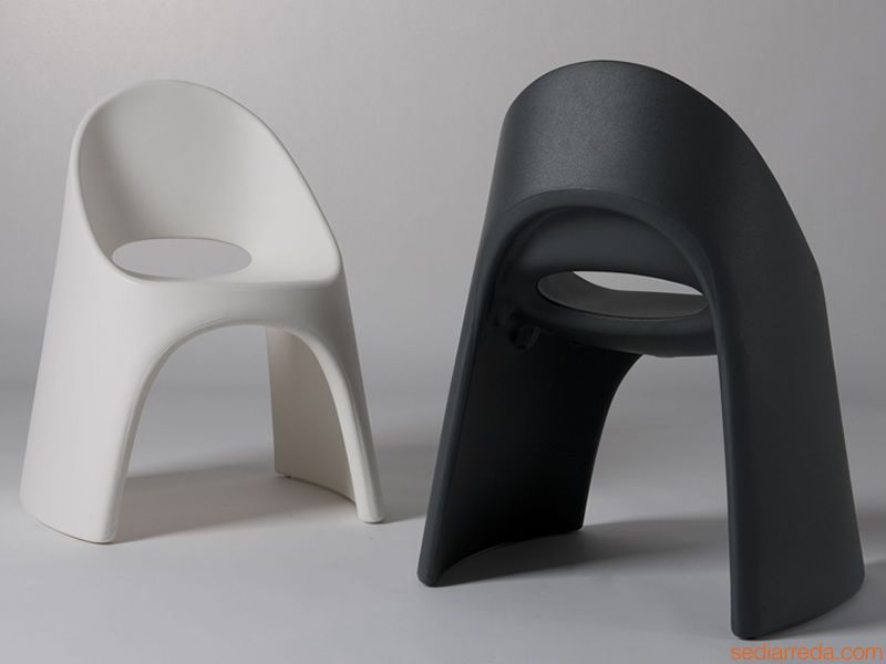 Ameli Sedie ~ Amélie sedie di design impilabile in bianco e nero mobilier