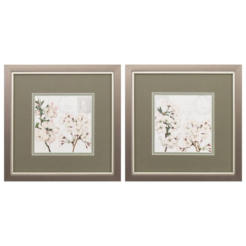 Homeroots Victoria Glass Metallic Bronze Wall Architectural Decor Set Of 2 365204 The Home Depot Square Wall Art Christmas Picture Frames Painting Frames
